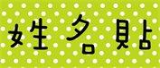 姓名貼 nsnp019